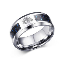 Load image into Gallery viewer, Personalised Carbon Fiber Tree Of Life Ring