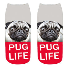 Load image into Gallery viewer, Pug 3D Print Socks