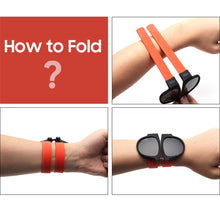 Load image into Gallery viewer, Wristband Folding Sunglasses