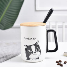 Load image into Gallery viewer, Cat Mug with Lid and Spoon