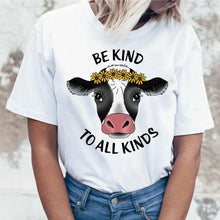 Load image into Gallery viewer, Be Kind To All Kinds Vegan T Shirt