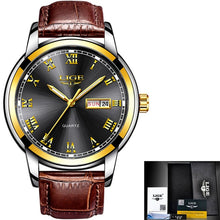 Load image into Gallery viewer, Mens Leather Watch