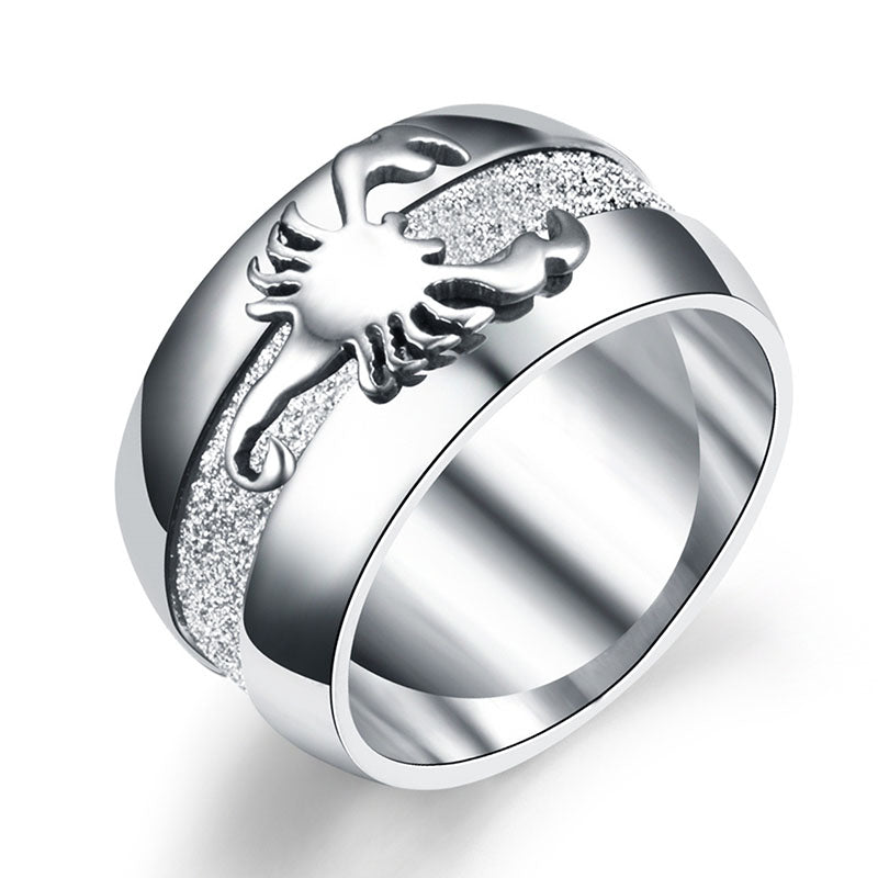 Frosted Scorpion Ring