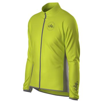 SIGR Uppsala Yellow Hi-Viz Cycling Wind Jacket for Men - Classy Cyclist Suomi