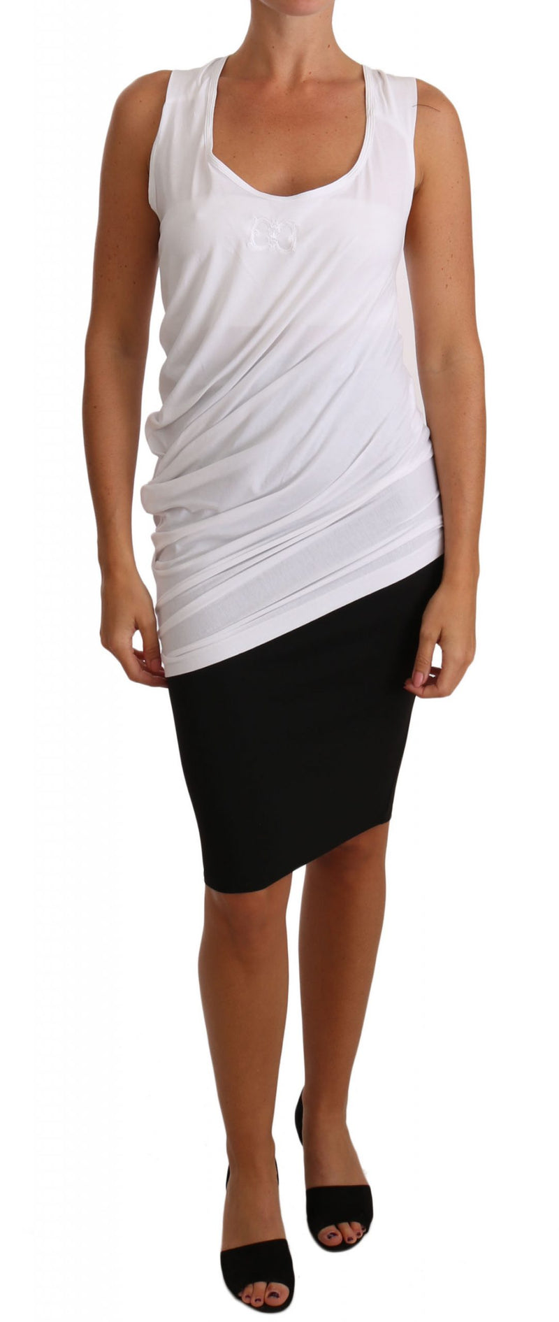 White Top Tank CAVALLI T-Shirt Jersey
