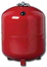 "100 Litres Red Replaceable Membrane Heating Expansion Vessel with 1"" Connection"