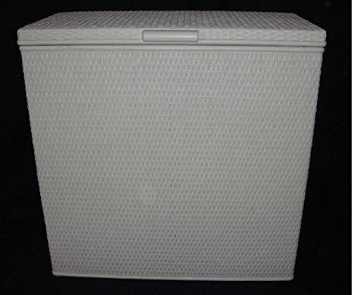 'Rattan Laundry Basket 3 Compartment Sorter with 3 Compartments White Made in Germany