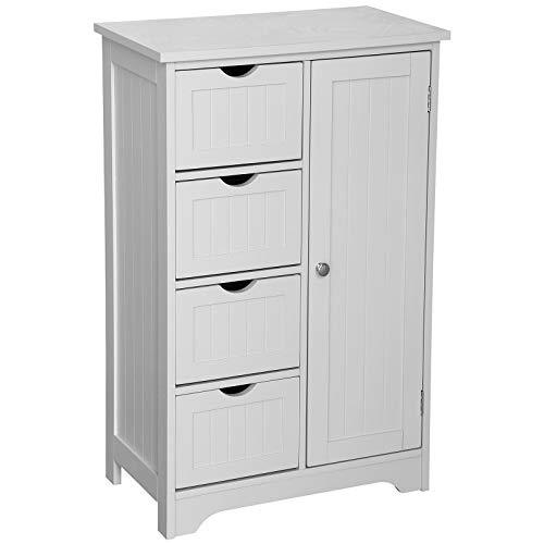 White Aspect Odense Bathroom Corner Storage Cabinet 66 5x47x79 5cm Home Garden Store Home Kitchen