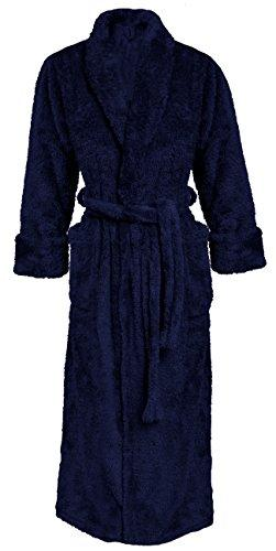 "'Harrison bath robe house coat from The Sophie Bernard Collection ""Bath & Home"". Feel good., Microfibre, dark blue, 5XL"
