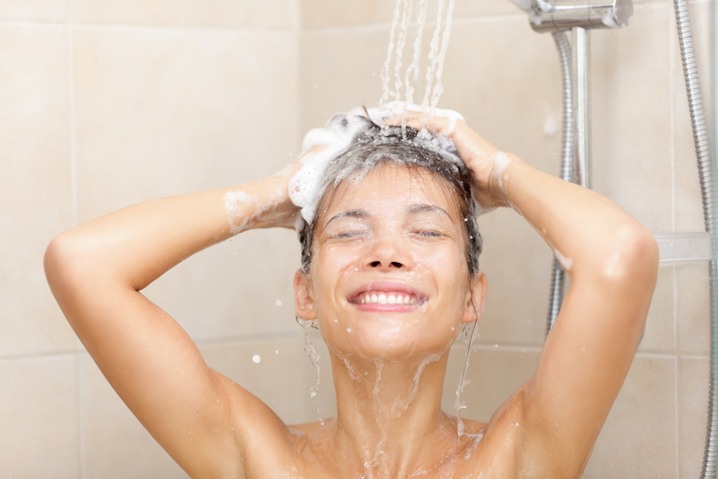 Shower at night to remove pollen from your hair