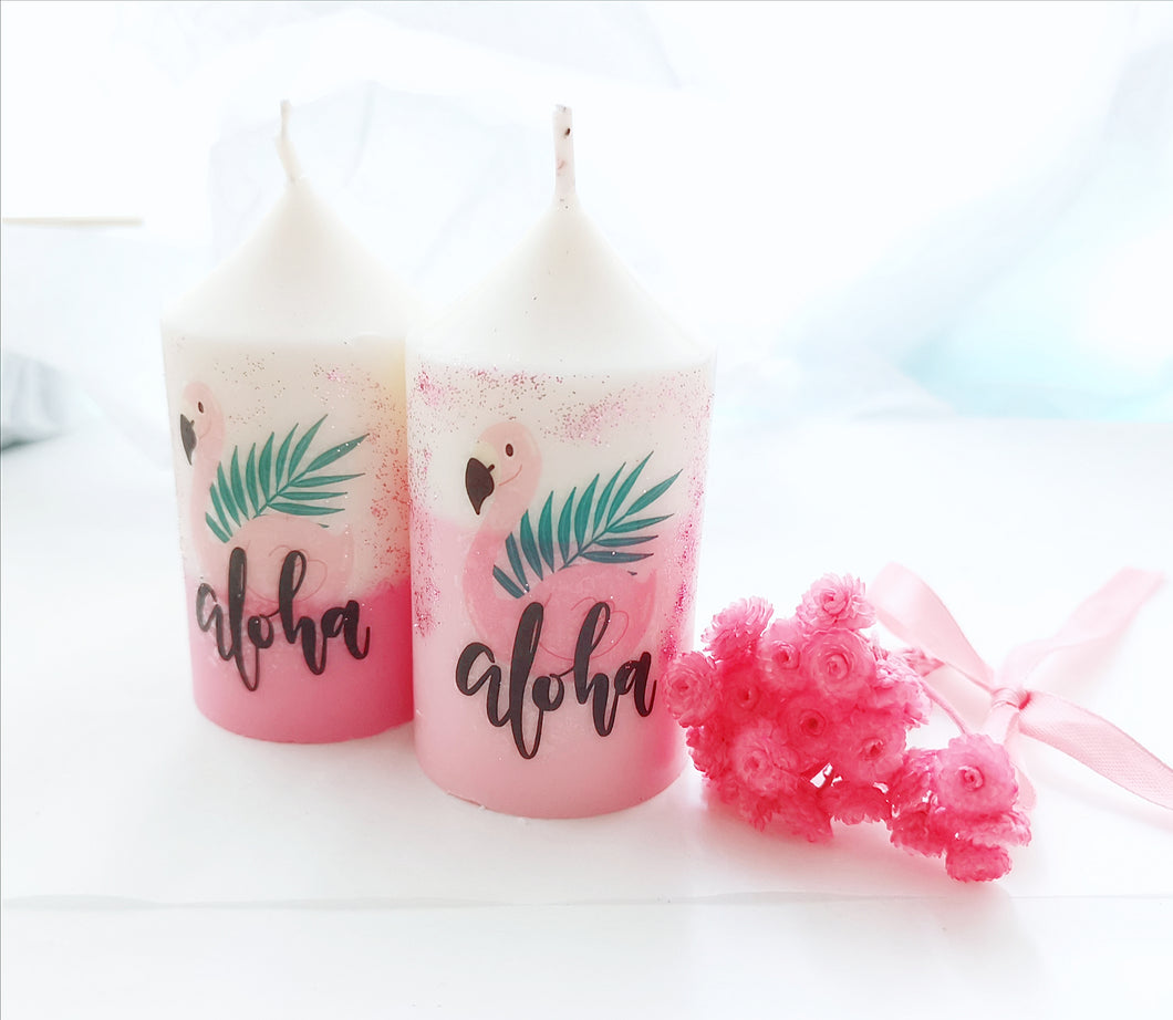 Flamingo candle - Summer edition