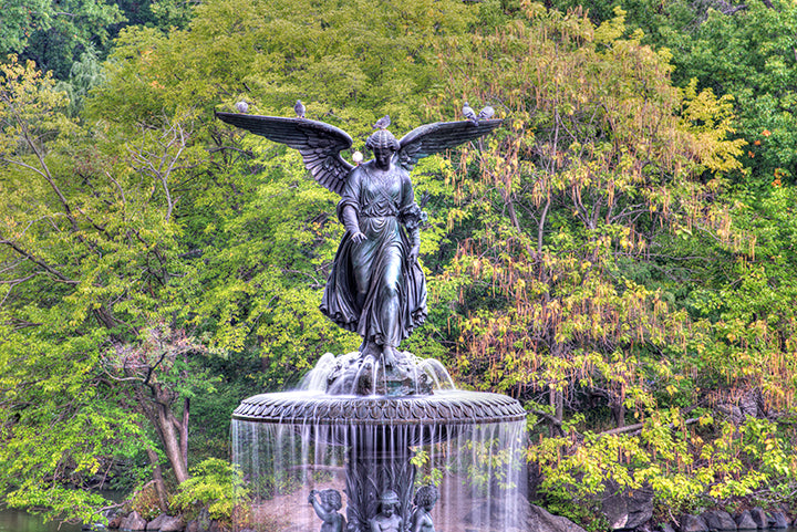 park, manhattan, nyc, statue, fountain, city, angel, outdoors, bethesda, water, york, central, usa, new, architecture, midtown, tree, terrace, landmark, green, foliage, nature, autumn, landscape, blue, garden, travel, new york city, fall, urban, central park, lake, cityscape, bethesda terrace, scenic, new york, america, sky, yellow, red, leisure, summer, the, of, states, skyline, cloud, united, october, building