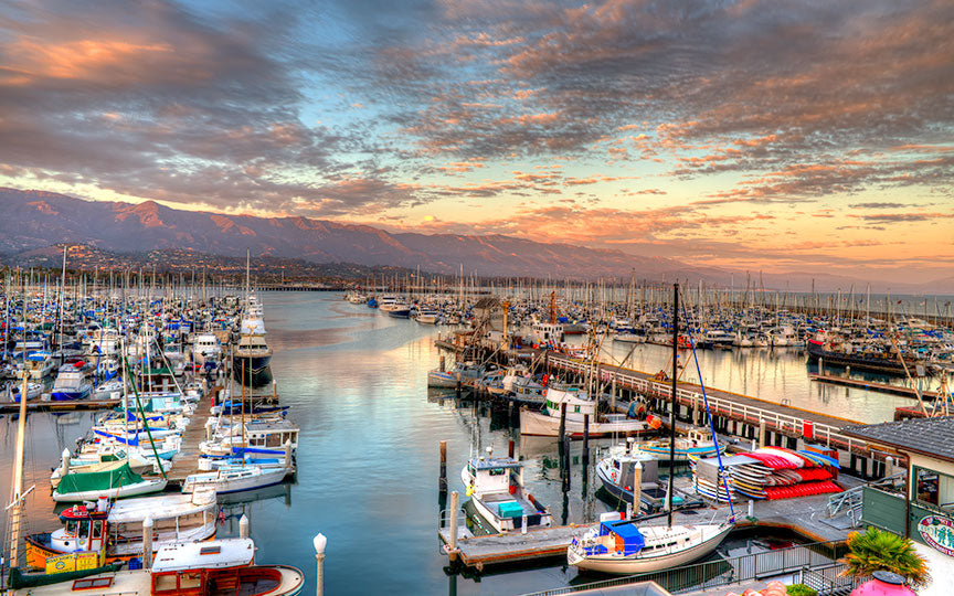 ocean, landscape, harbor, coast, california, nature, santa, barbara, travel, beach, scenic, pacific, shore, blue, water, sky, bay, outdoors, sea, tourism, coastline, america, pier, santa barbara, usa, sunset, coastal, city, scenery, beautiful, twilight, vacation, destination, view, seascape, colorful, wharf, recreation, american, boats, mountains, boat, park, edge, summer, west, landmark, night, cloud, dock