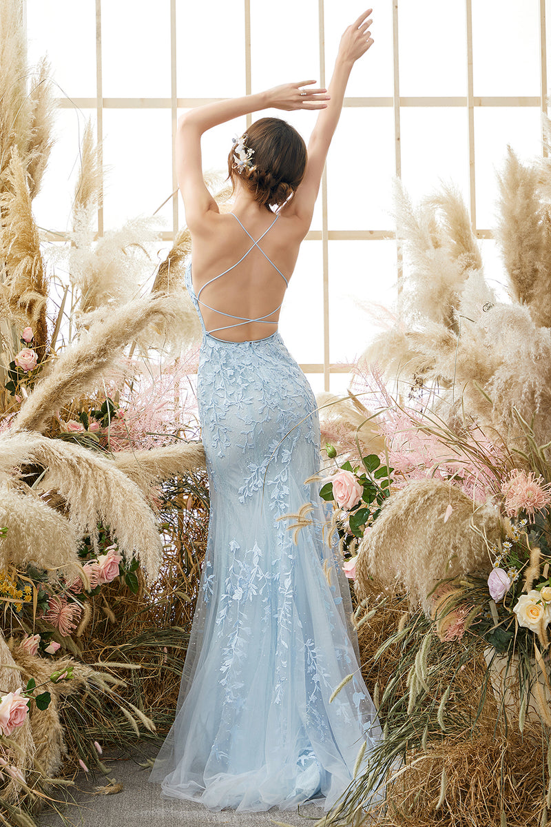 Load image into Gallery viewer, Spaghetti Straps Mermaid Prom Dress