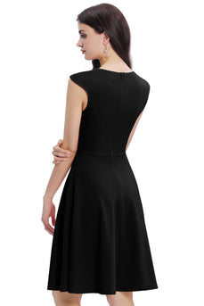 Black Solid Homecoming Dress
