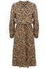 Load image into Gallery viewer, Brown Leopard Printed Casual Dress