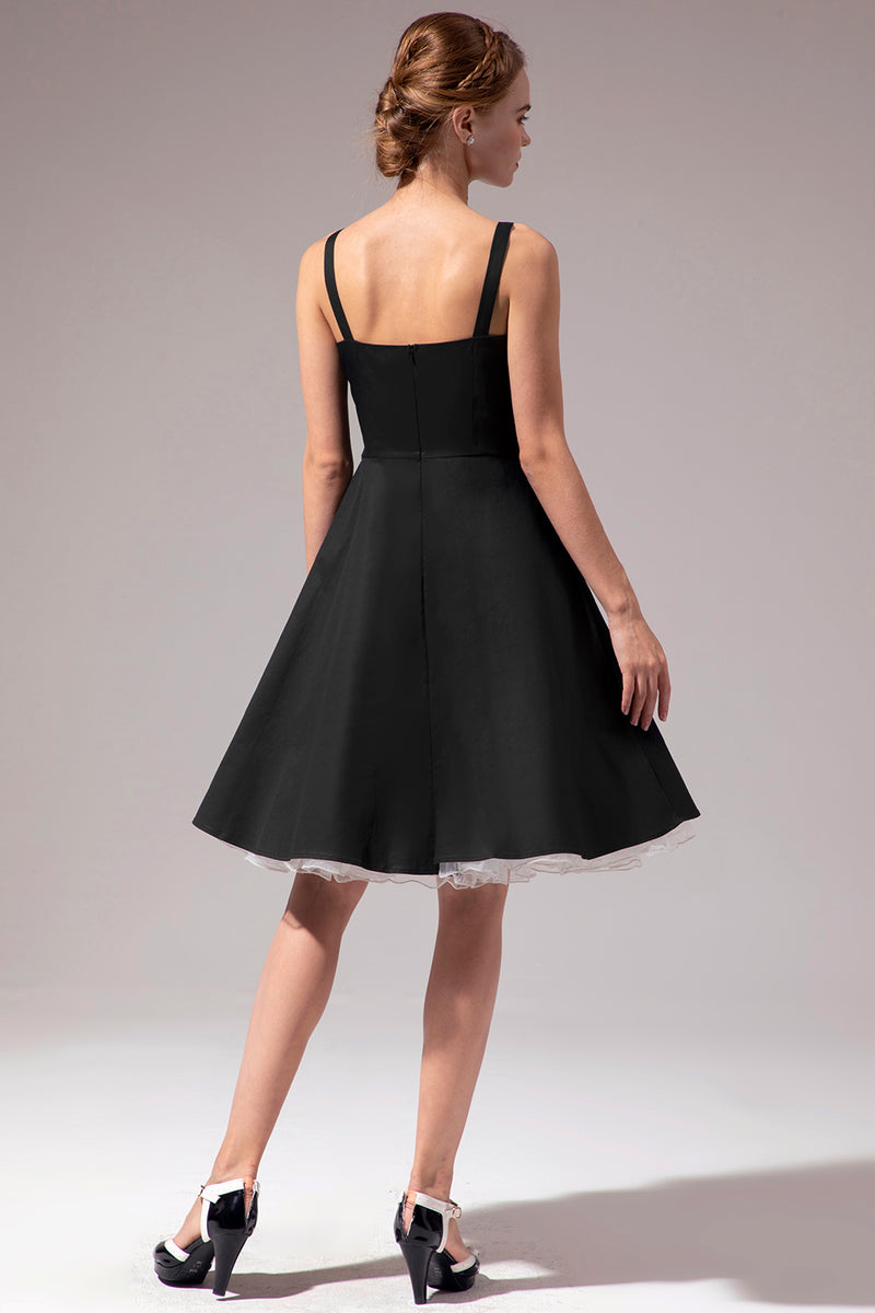 Load image into Gallery viewer, Vintage Black Dress With Button
