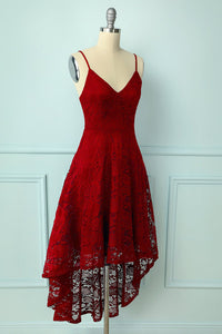 Straps Dark Red Lace