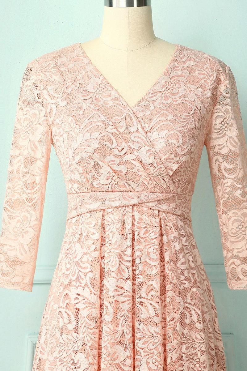 Load image into Gallery viewer, Blush High Low Lace