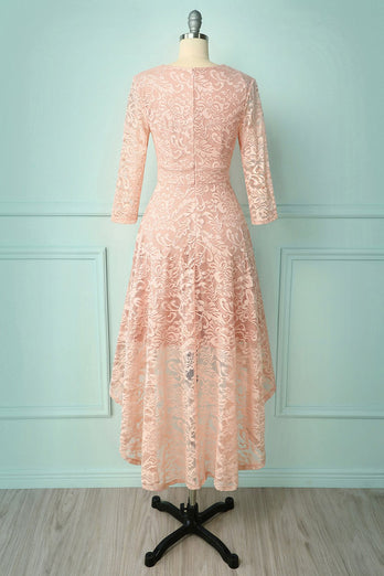 Blush High Low Lace