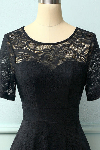 Vintage Black Lace Dress