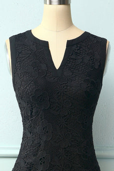 Black Floral Lace Dress