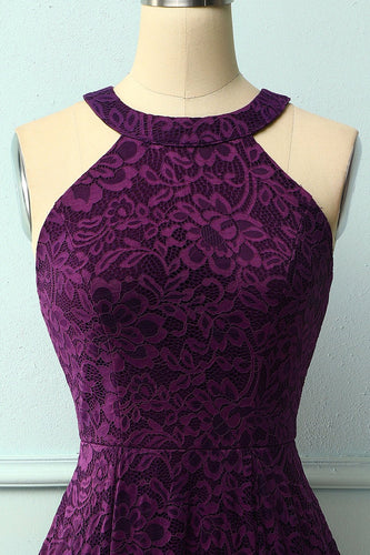Grape Halter Lace Midi