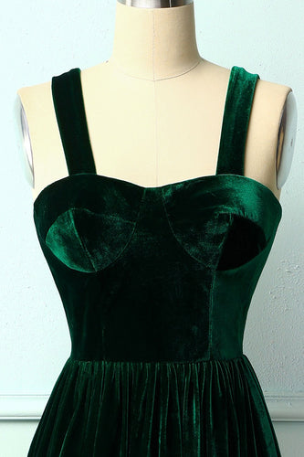 Dark Green Velvet Dress