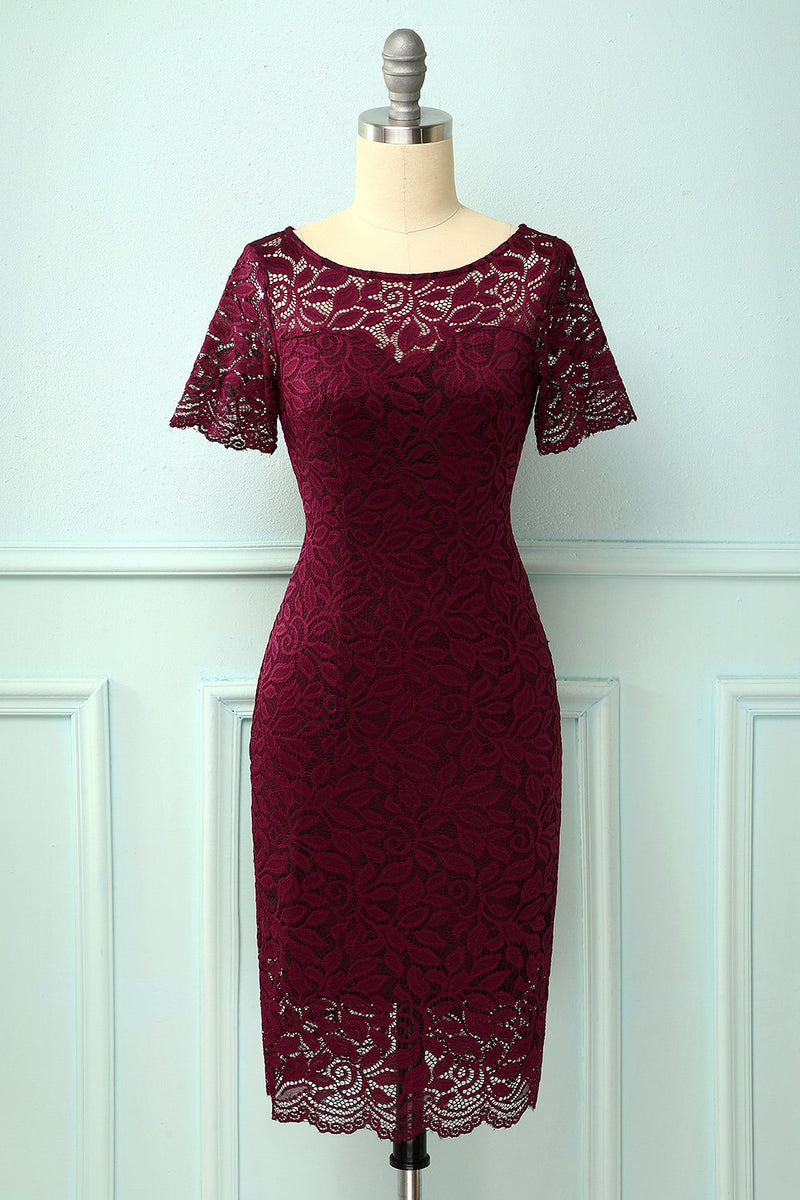 Load image into Gallery viewer, Burgundy Bodycon Dress