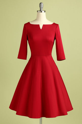 Red Crepe Formal Dress
