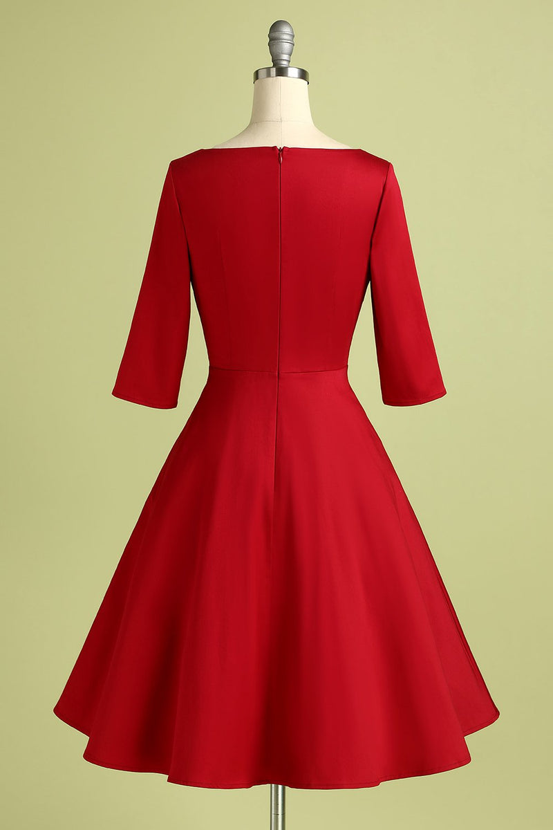 Load image into Gallery viewer, Red Crepe Formal Dress