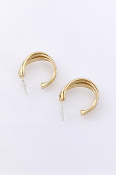Golden Simple Style Earrings