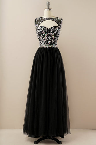 Beading Tulle Prom Dress