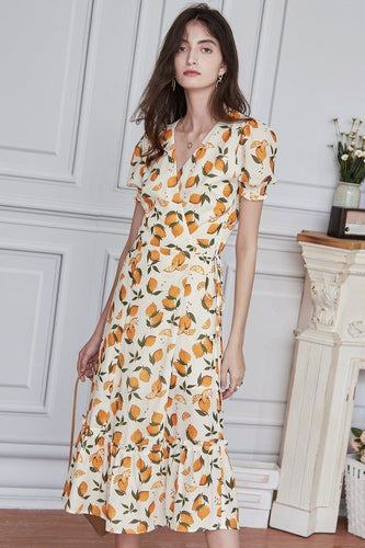 Fruit Printed Summer Dress
