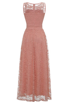 Blush Long Lace Formal Dress