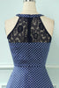 Load image into Gallery viewer, Polka Dots Halter High-Low Vintage Dress