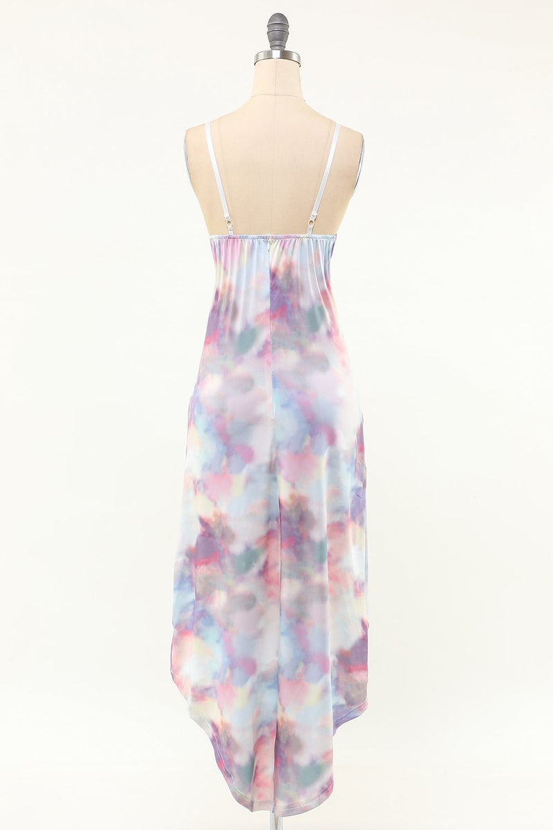 Load image into Gallery viewer, Spaghetti Straps Tie Dye Dress