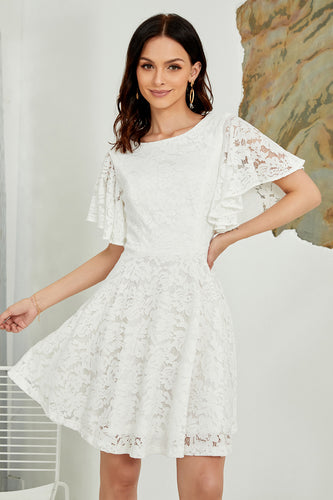 Batwing Sleeves Lace Dress