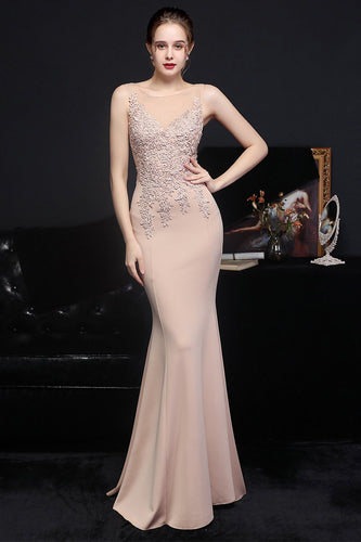 Apricot Long Evening Dress