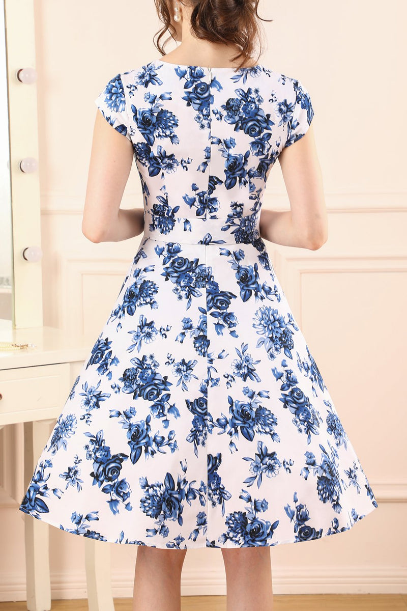 Load image into Gallery viewer, Blue Floral Dress