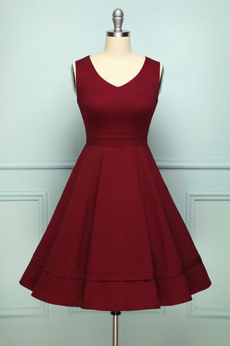 Burgundy Plus Size Dress