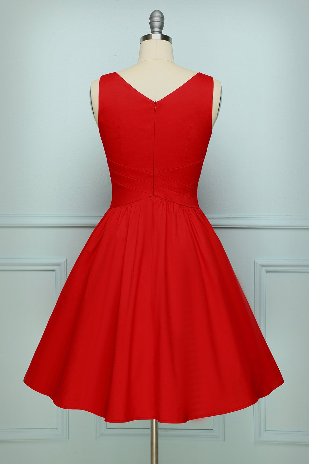 Red Sleeveless Dress