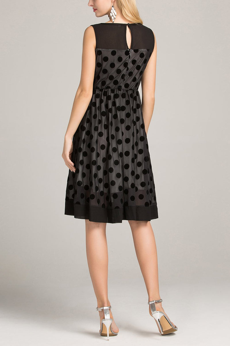 Load image into Gallery viewer, Black Polka Dots Dress