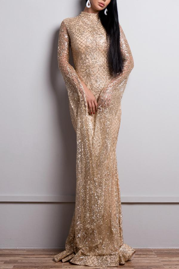 Mermaid Long Sequin Prom Evening Dress
