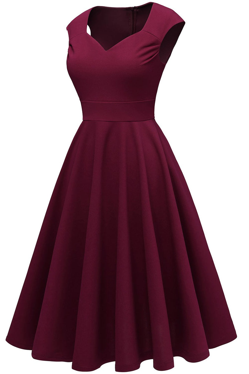 Load image into Gallery viewer, Burgundy Solid Hoco Dress