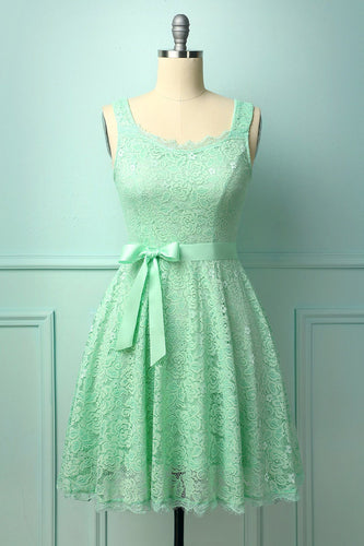 Mint Sleeveless Lace