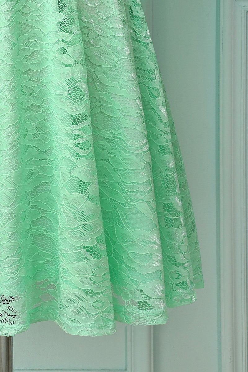 Load image into Gallery viewer, Mint Lace Dress with 3/4 Sleeves