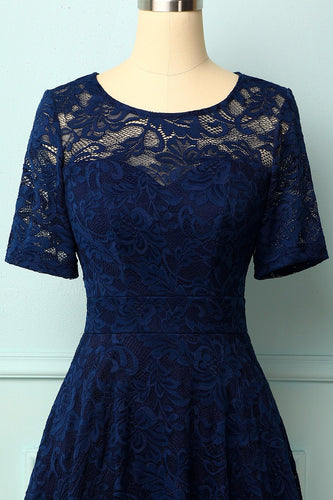 Navy Bridesmaid Lace