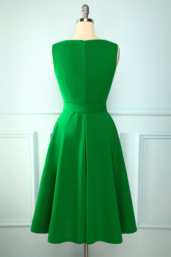 Green Sash Homecoming Dress