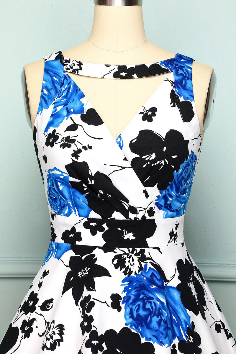 Load image into Gallery viewer, 1950s V Neck Floral
